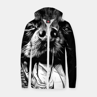 Thumbnail image of gxp rottweiler dog long tongue vector art black white Cotton zip up hoodie, Live Heroes