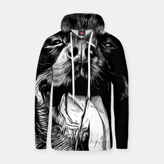 Thumbnail image of gxp rottweiler dog long tongue vector art black white Cotton hoodie, Live Heroes