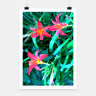 Thumbnail image of red lilies Plakat, Live Heroes
