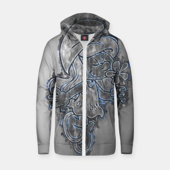 Thumbnail image of Smurfette Cotton zip up hoodie, Live Heroes