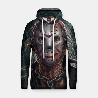 Thumbnail image of Jason Voorhees Cotton hoodie, Live Heroes