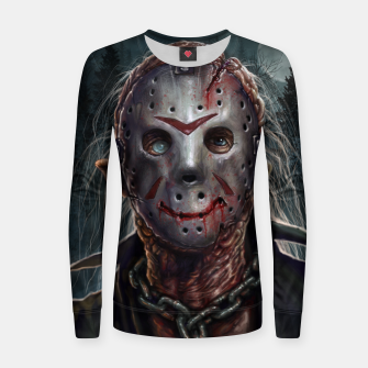 Jason Voorhees Woman cotton sweater thumbnail image