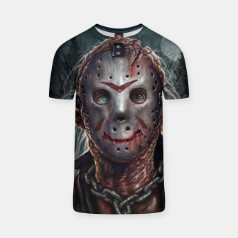Thumbnail image of Jason Voorhees T-shirt, Live Heroes