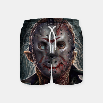 Thumbnail image of Jason Voorhees Swim Shorts, Live Heroes