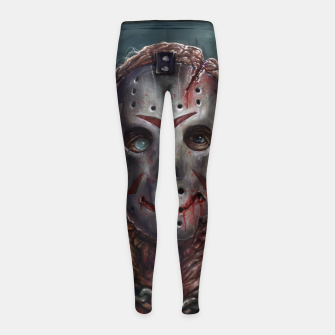 Thumbnail image of Jason Voorhees Girl's leggings, Live Heroes