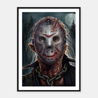 Thumbnail image of Jason Voorhees Framed poster, Live Heroes