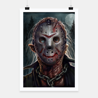 Thumbnail image of Jason Voorhees Poster, Live Heroes