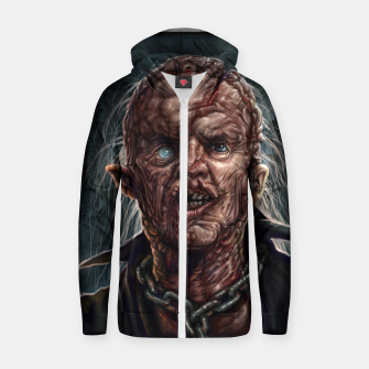 Thumbnail image of Jason Voorhees - Unmasked Cotton zip up hoodie, Live Heroes