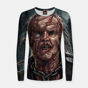 Thumbnail image of Jason Voorhees - Unmasked Woman cotton sweater, Live Heroes