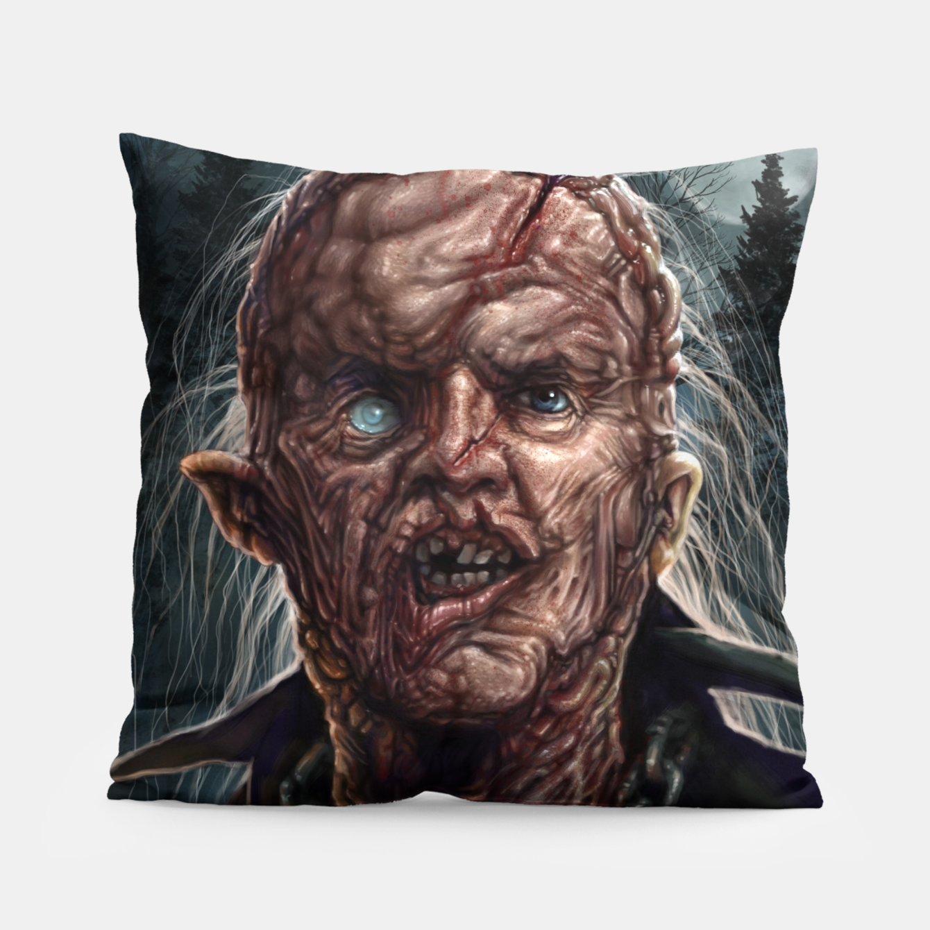 Image of Jason Voorhees - Unmasked Pillow - Live Heroes