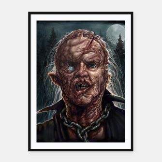 Thumbnail image of Jason Voorhees - Unmasked Framed poster, Live Heroes