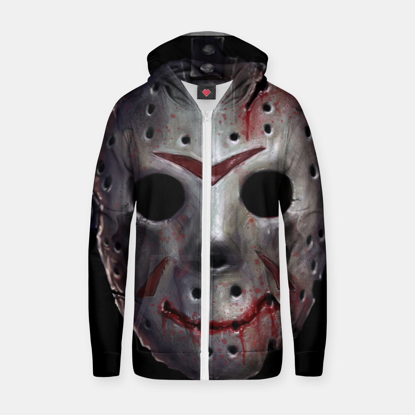 Image of Happy Friday Mask Cotton zip up hoodie - Live Heroes