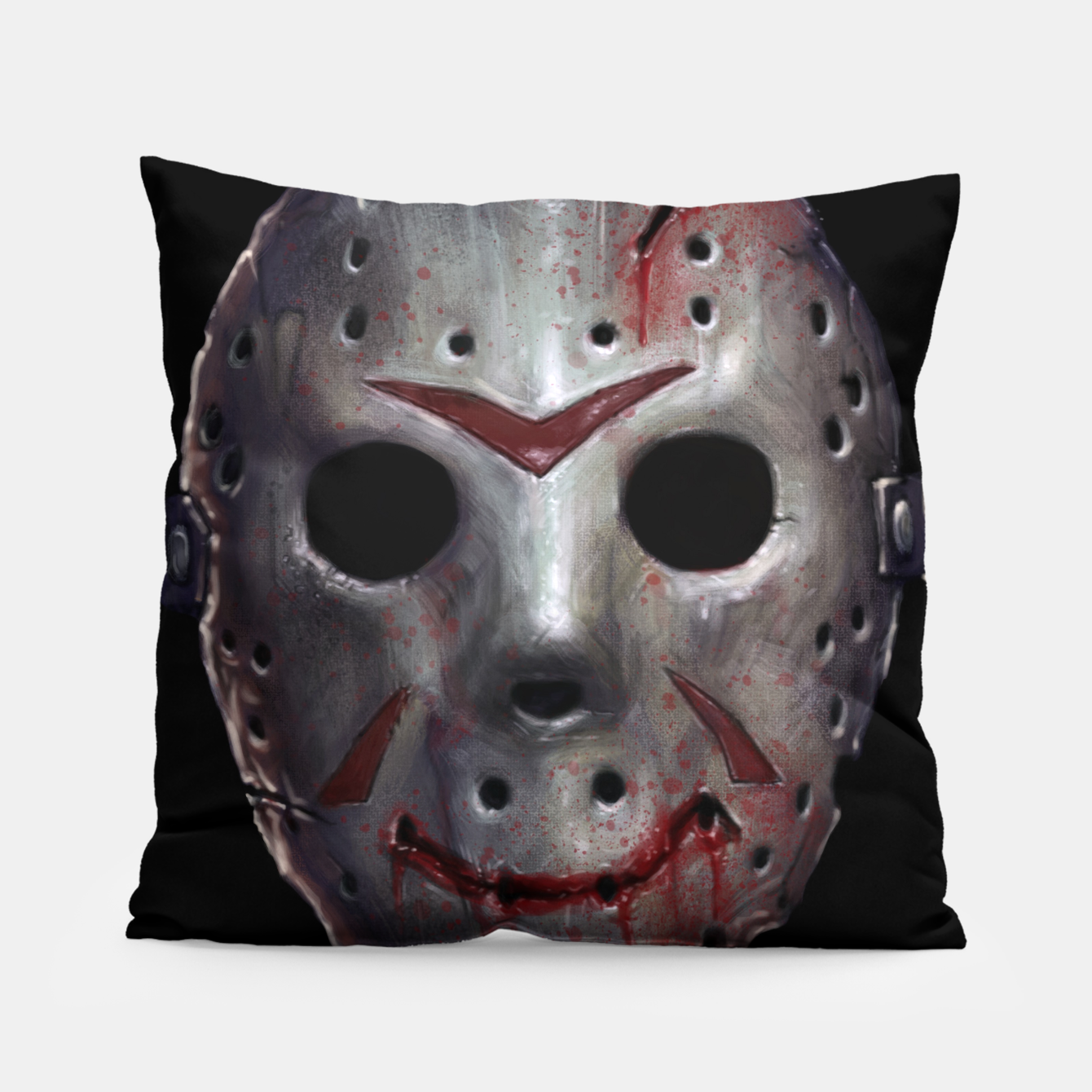 Image of Happy Friday Mask Pillow - Live Heroes