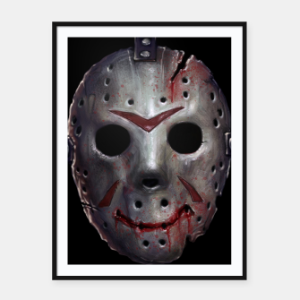 Thumbnail image of Happy Friday Mask Framed poster, Live Heroes