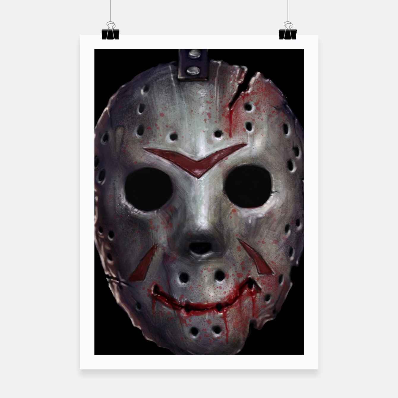 Image of Happy Friday Mask Poster - Live Heroes