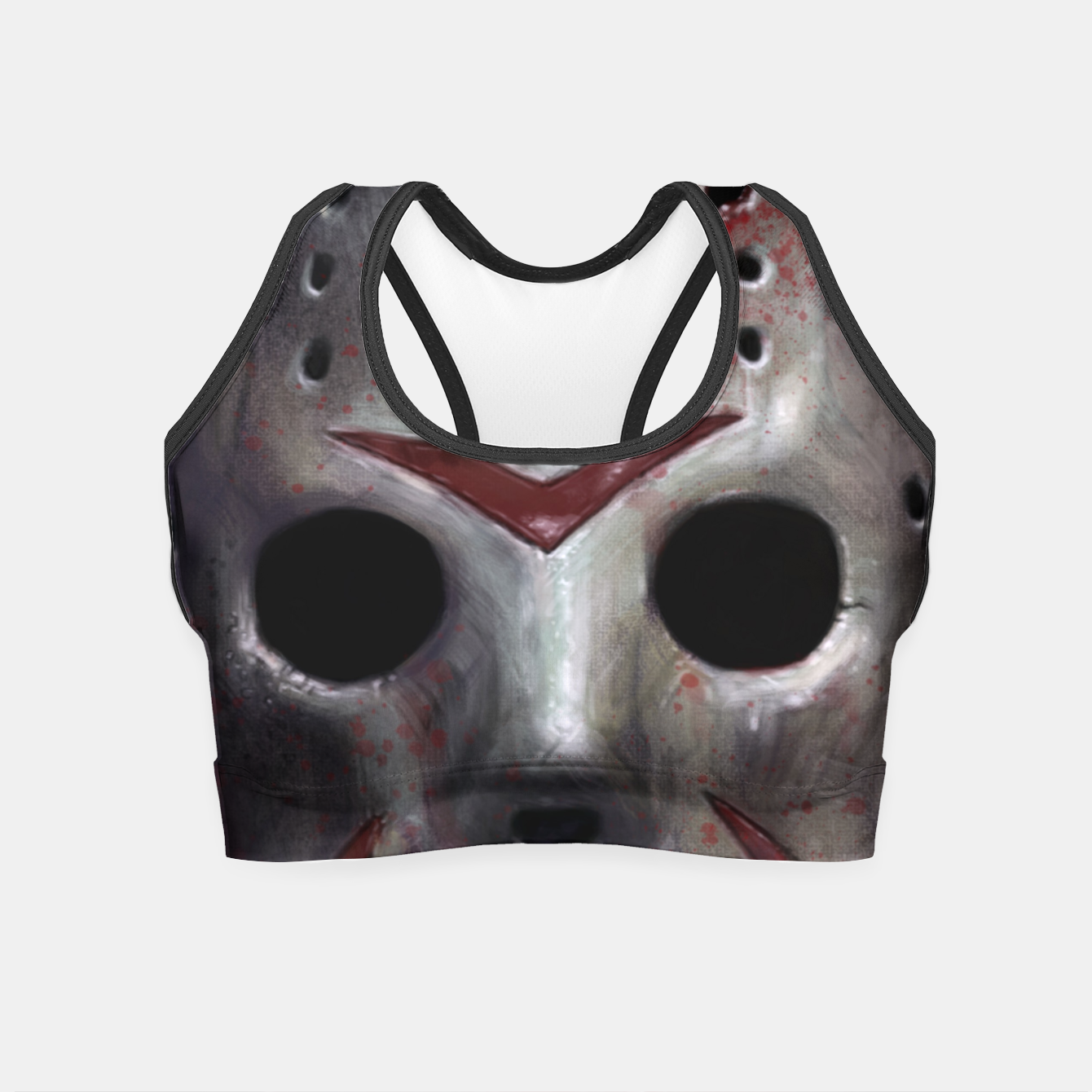 Image of Happy Friday Mask Crop Top - Live Heroes