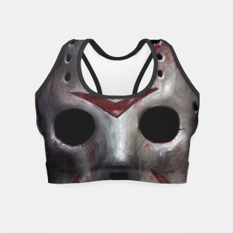 Happy Friday Mask Crop Top thumbnail image