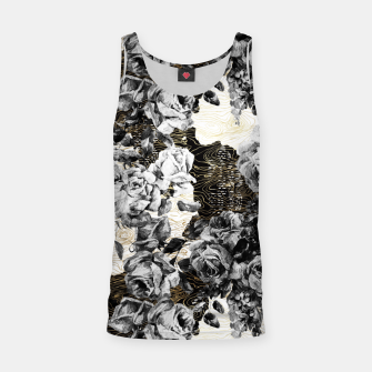 Miniaturka Dark abstract bloom over golden lines Camiseta de tirantes, Live Heroes
