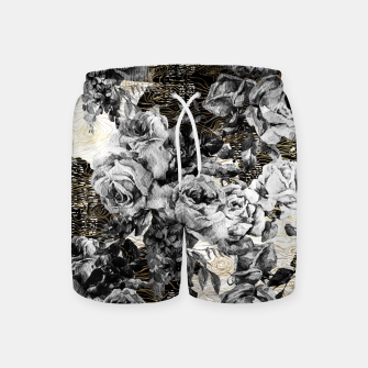 Miniaturka Dark abstract bloom over golden lines Pantalones de baño, Live Heroes