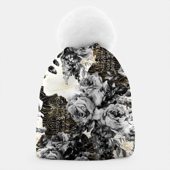 Miniaturka Dark abstract bloom over golden lines Gorro, Live Heroes