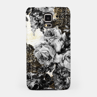 Miniaturka Dark abstract bloom over golden lines Carcasa por Samsung, Live Heroes