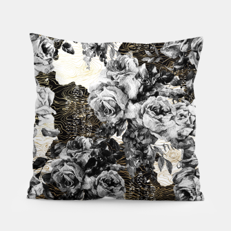 Miniaturka Dark abstract bloom over golden lines Almohada, Live Heroes