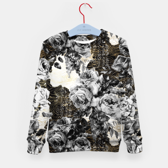Miniaturka Dark abstract bloom over golden lines Sudadera para niños, Live Heroes