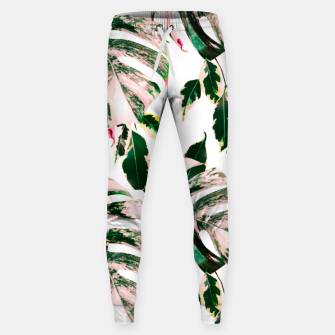Thumbnail image of Big beautiful monstera Pantalones de chándal de algodón, Live Heroes