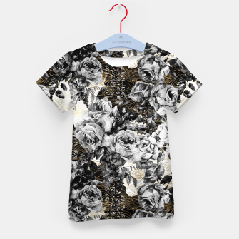 Thumbnail image of Dark abstract bloom over golden lines Camiseta para niños, Live Heroes