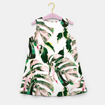 Thumbnail image of Big beautiful monstera Vestido de verano para niñas, Live Heroes