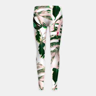 Thumbnail image of Big beautiful monstera Leggings para niña, Live Heroes