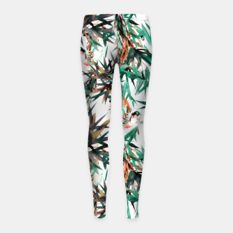 Thumbnail image of Beautiful birds in paradise Leggings para niña, Live Heroes