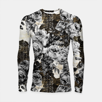 Miniaturka Dark abstract bloom over golden lines Longsleeve rashguard, Live Heroes