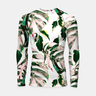 Thumbnail image of Big beautiful monstera Longsleeve rashguard, Live Heroes