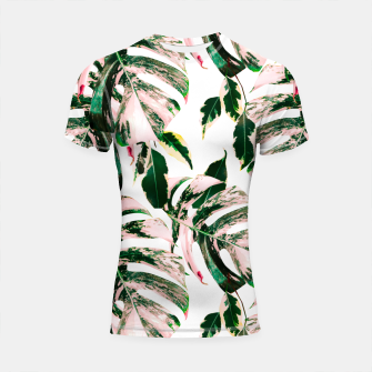 Thumbnail image of Big beautiful monstera Shortsleeve rashguard, Live Heroes