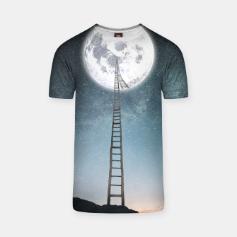 Thumbnail image of Reach the moon T-shirt, Live Heroes