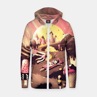 Thumbnail image of Iceland Cotton zip up hoodie, Live Heroes