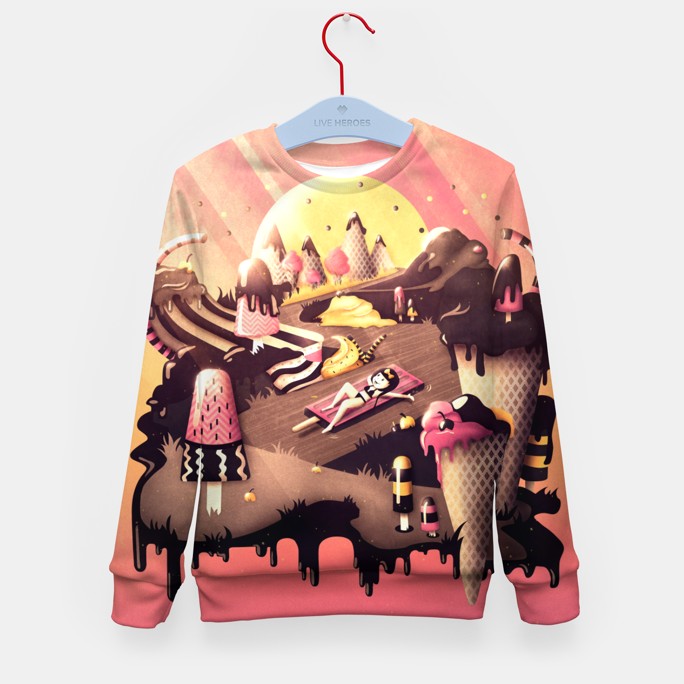 Image of Iceland Kid's sweater - Live Heroes