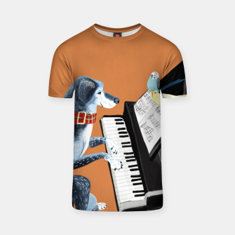 Thumbnail image of Piano Lesson Camiseta, Live Heroes