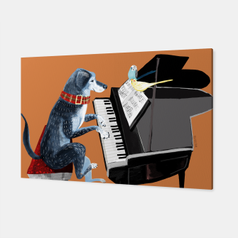 Thumbnail image of Piano Lesson Canvas, Live Heroes