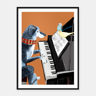 Thumbnail image of Piano Lesson Cartel con marco, Live Heroes