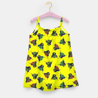 Thumbnail image of Cow in Yellow  Girl's dress, Live Heroes