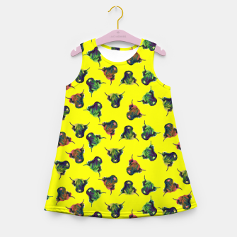 Thumbnail image of Cow in Yellow  Girl's summer dress, Live Heroes