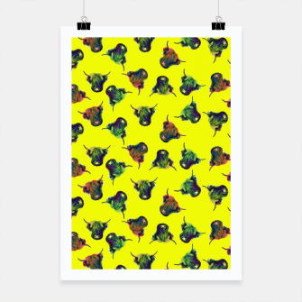 Thumbnail image of Cow in Yellow  Poster, Live Heroes