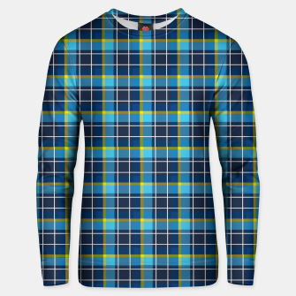 Thumbnail image of Blue and Yellow Check Cotton sweater, Live Heroes