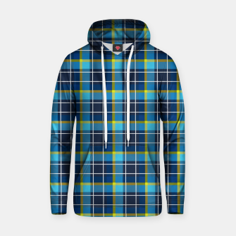 Thumbnail image of Blue and Yellow Check Cotton hoodie, Live Heroes