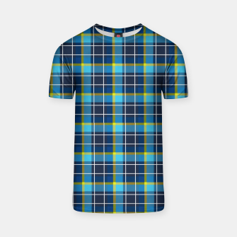 Thumbnail image of Blue and Yellow Check T-shirt, Live Heroes