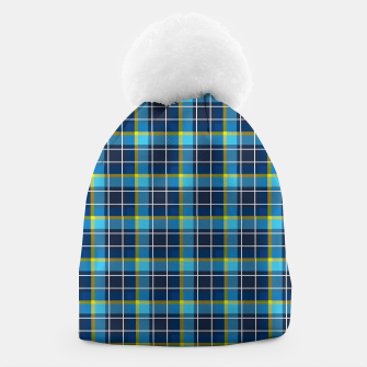 Thumbnail image of Blue and Yellow Check Beanie, Live Heroes
