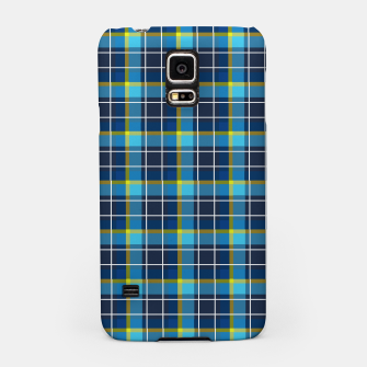 Thumbnail image of Blue and Yellow Check Samsung Case, Live Heroes