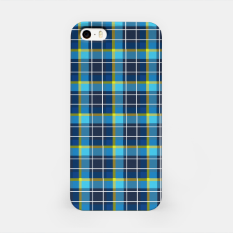 Thumbnail image of Blue and Yellow Check iPhone Case, Live Heroes